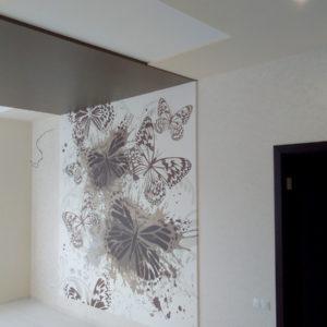 Косметический ремонт квартиры - стена с потолком