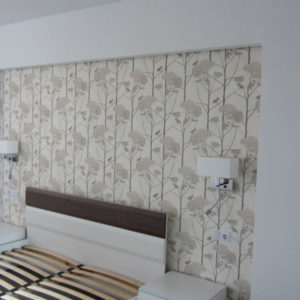 Ремонт квартир - спальная комната с объемным декором